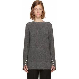 Phillip Lim V Back Pearl Cuff Sweater